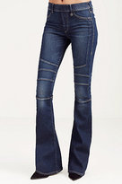 True Religion Runway Moto Womens Flare
