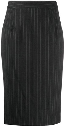 Dolce & Gabbana Pinstriped Pencil Skirt