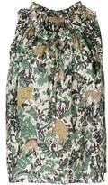 Burberry floral print tank top