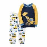Carter's Boy Yellow Truck 2pc Fleece 12-24M
