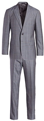 Giorgio Armani Plaid Wool Single-Breasted Suit