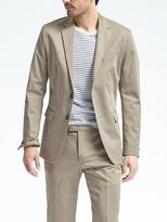 Banana Republic Slim Stretch Cotton Solid Suit Jacket