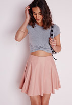 Missguided Capped Sleeve Knot Crop Top Grey