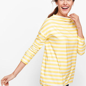 Talbots Mockneck Stripe Pullover
