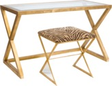 Worlds Away Mark Gold Leaf Desk