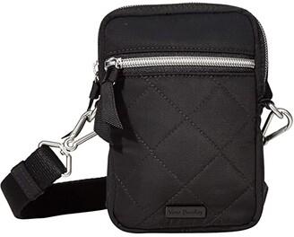 Vera Bradley Performance Twill RFID Convertible Small Crossbody (Black) Handbags