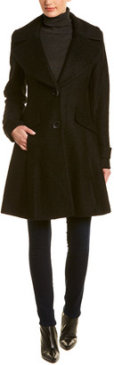 Sam Edelman Wool-Blend A-Line Coat