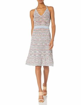 BCBGMAXAZRIA Azria Women's Jenn Zig Zag A-line Knit Casual Dress