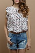 Cattiva Girl White Flower Top