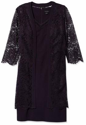 Le Bos Women's Lace Duster Jacket Dress
