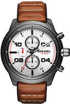 Diesel Men's DZ4438 Padlock Gunmetal IP Leather Watch