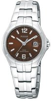 Pulsar Women's PXT741 Stainless Steel Case and Bracelet Brown Sunray Dial Watch