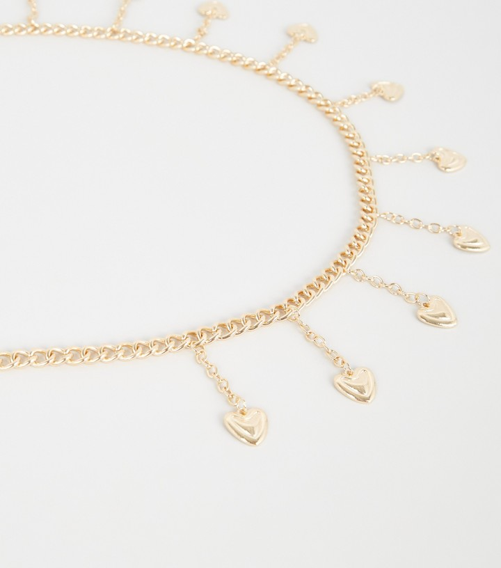 Thumbnail for your product : New Look Heart Drape Chain Belt