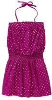 Gap Metallic dot halter dress