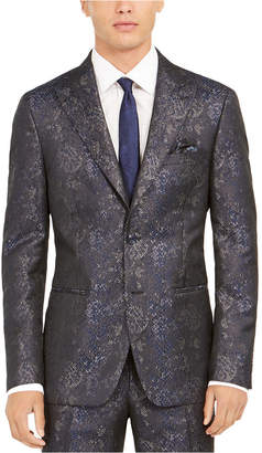 Tallia Men Slim-Fit Snakeskin-Print Suit Jacket
