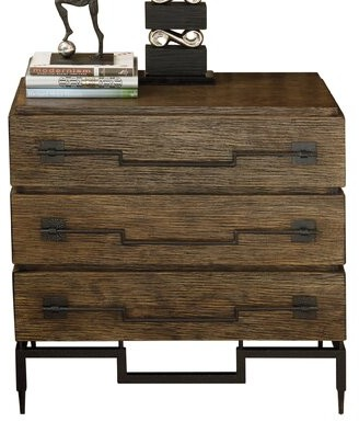 Global Views 3 Drawer Accent Chest