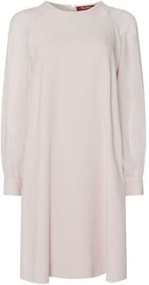 Max Mara Slogan sheer sleeve dress