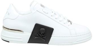 Philipp Plein Sneaker Lo-top Phantom Kick $ Rubberized In White Leather