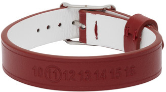 Maison Margiela Red Leather Bracelet