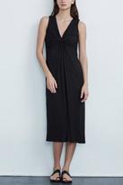 Velvet V-Neck Midi Dress