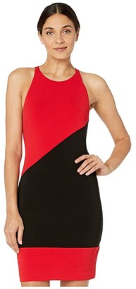 Nicole Miller Heavy Jersey X-Back Mini Dress (Cherry Red) Women's Dress