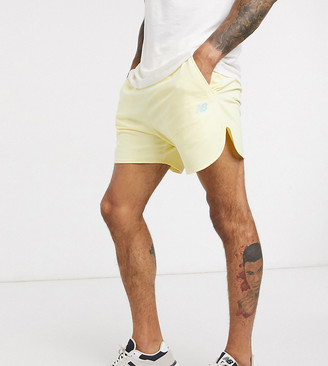 New Balance shorts in pastel yellow exclusive at ASOS