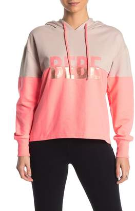 Bebe Colorblock Terry Knit Sweatshirt