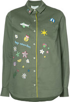 Mira Mikati longsleeve printed button down shirt - women - Cotton/Polyester - 34
