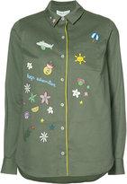 Mira Mikati longsleeve printed button down shirt - women - Polyester/Cotton - 38