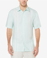 Cubavera Men's 100% Linen Perforated Panel Shirt