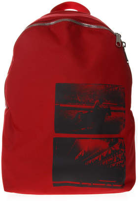 Calvin Klein Andy Warhol Red Nylon Backpack