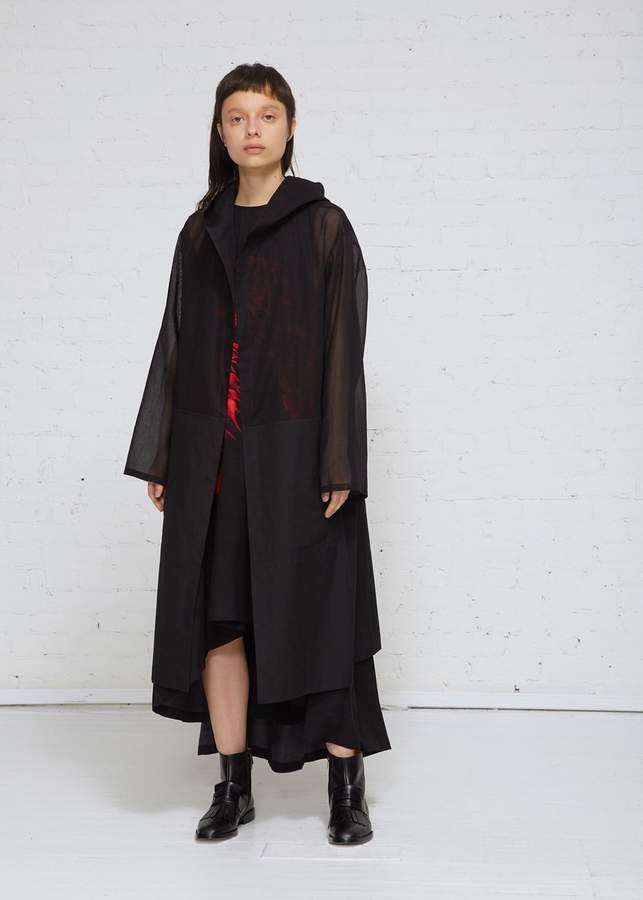 Yohji Yamamoto Paneled Coat With Hood