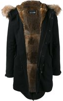 Yves Salomon Raccoon Fur Trimmed Hooded Parka