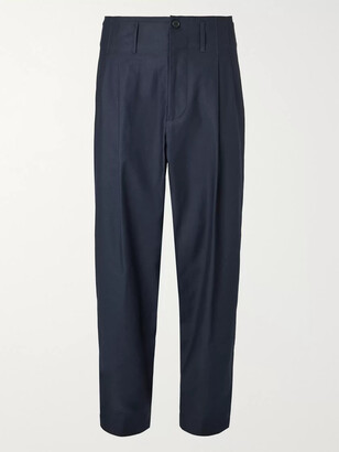 Nicholas Daley Tapered Pleated Cotton Trousers