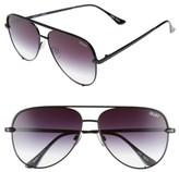 Quay High Key 62mm Oversize Aviator Sunglasses