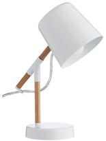 Habitat Peeta Metal and Wood Desk Lamp - White
