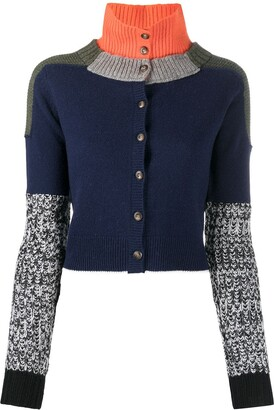 Preen by Thornton Bregazzi Colour-Block Button-Up Cardigan