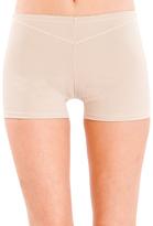 Beige Cutout Shaper Shorts - Plus Too