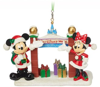 Disney Santa Mouse Figural Ornament Walt World