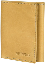 Steve Madden Tan Antique Trifold Leather Wallet