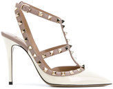 Valentino Garavani studded T-strap pumps - women - Leather/Patent Leather - 38