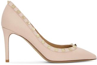 Valentino Pink Garavani Rockstud 85 Heels