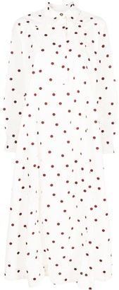 Ganni Polka Dot Shirt Dress
