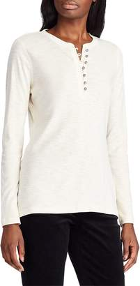 Chaps Long-Sleeve Cotton Henley