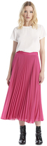 Alice + Olivia Essie Pleated Midlength Skirt