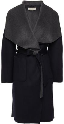 MICHAEL Michael Kors Belted Two-tone Wool-blend Felt Coat