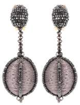 Oscar de la Renta Beaded clip-on earrings