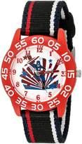Marvel Boy's 'Civil War' Quartz Plastic and Nylon Automatic Watch, Color: (Model: W003121)
