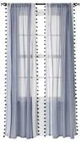 "Xhilaration Black Tasseled Print Shell Print Window Panel - (50"" x 84"") [One Window Panel]"