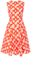 Lela Rose Sleeveless Godet Dress